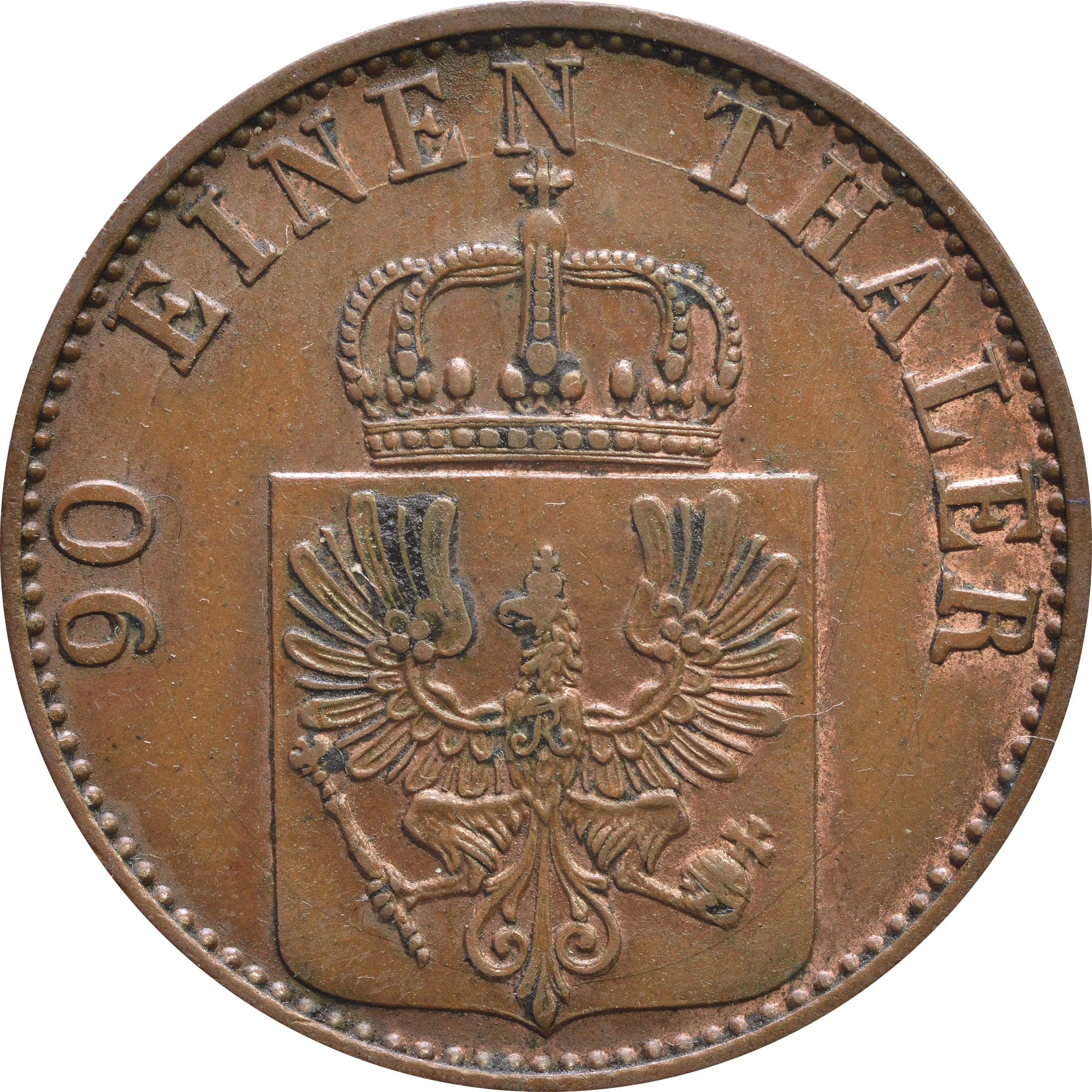 Rückseite:Deutschland : 4 Pfennig   1868 vz.