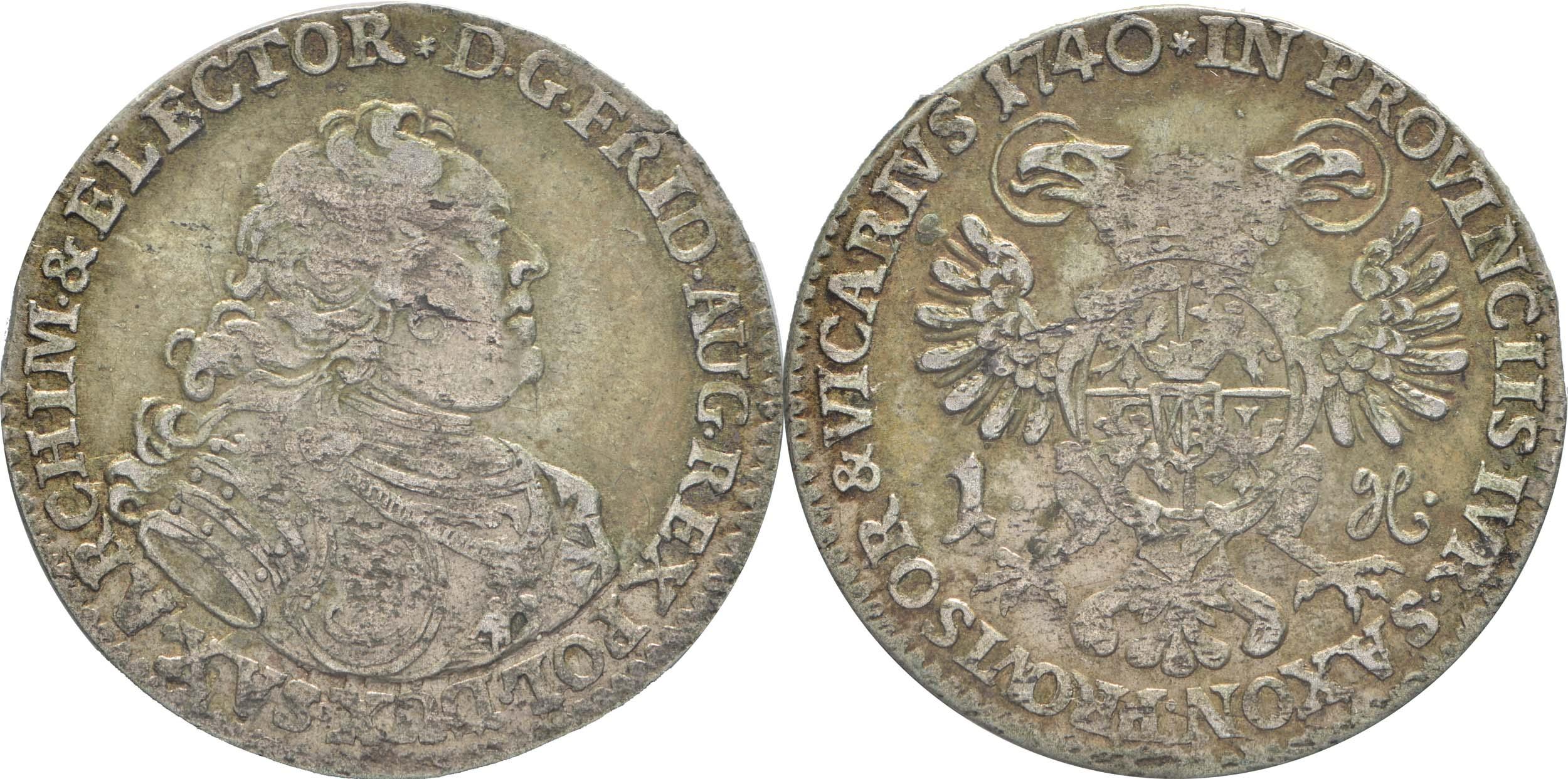 Deutschland : 1 Groschen a.d. Vicariat patina 1740 vz.