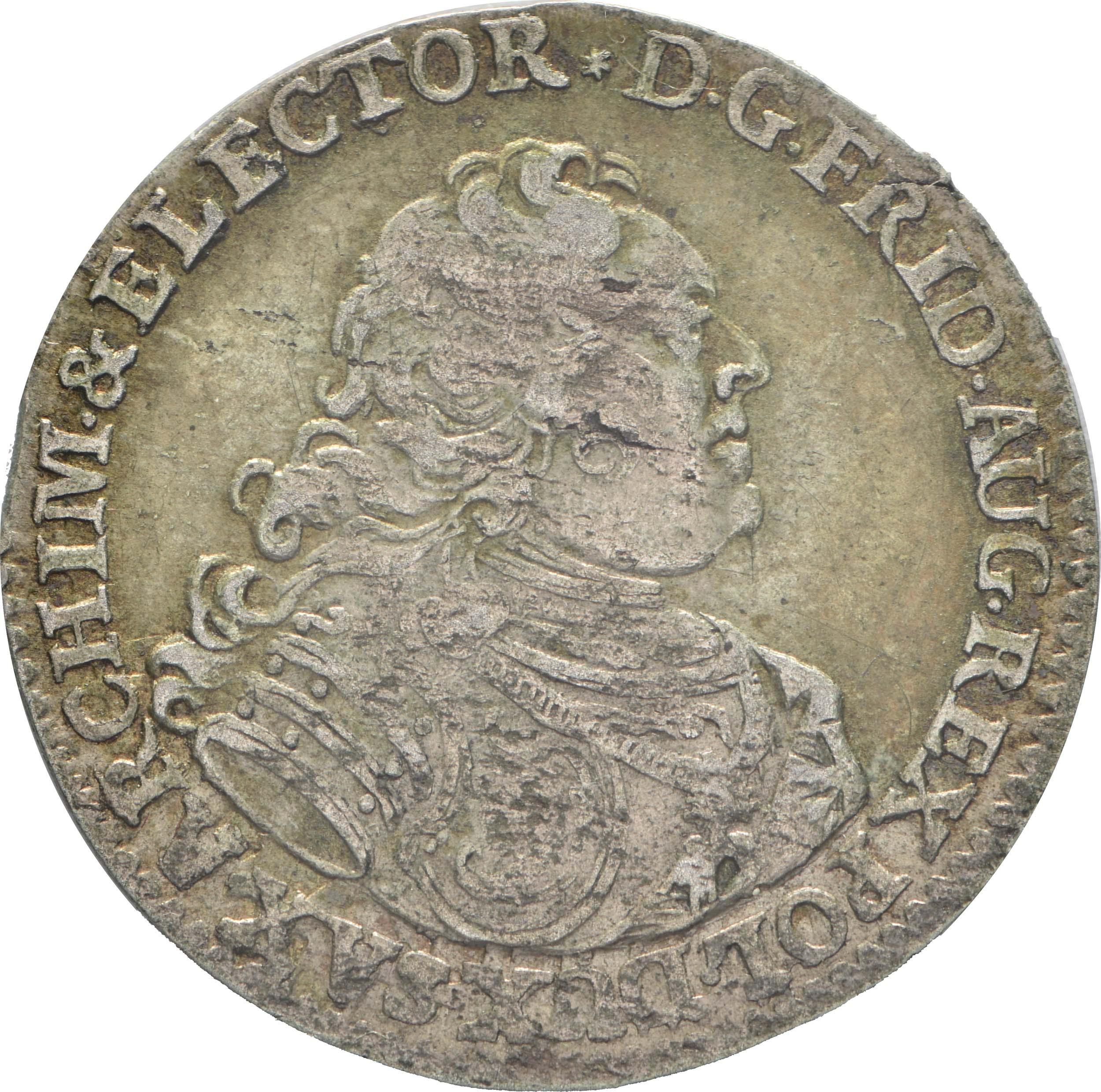 Vorderseite:Deutschland : 1 Groschen a.d. Vicariat patina 1740 vz.