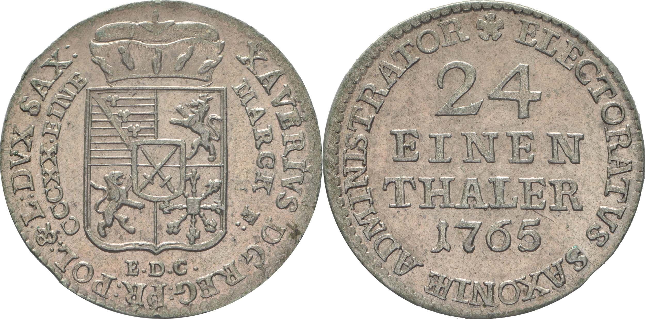 Lieferumfang:Deutschland : 1/24 Taler Friedrich August III  1765 vz/Stgl.