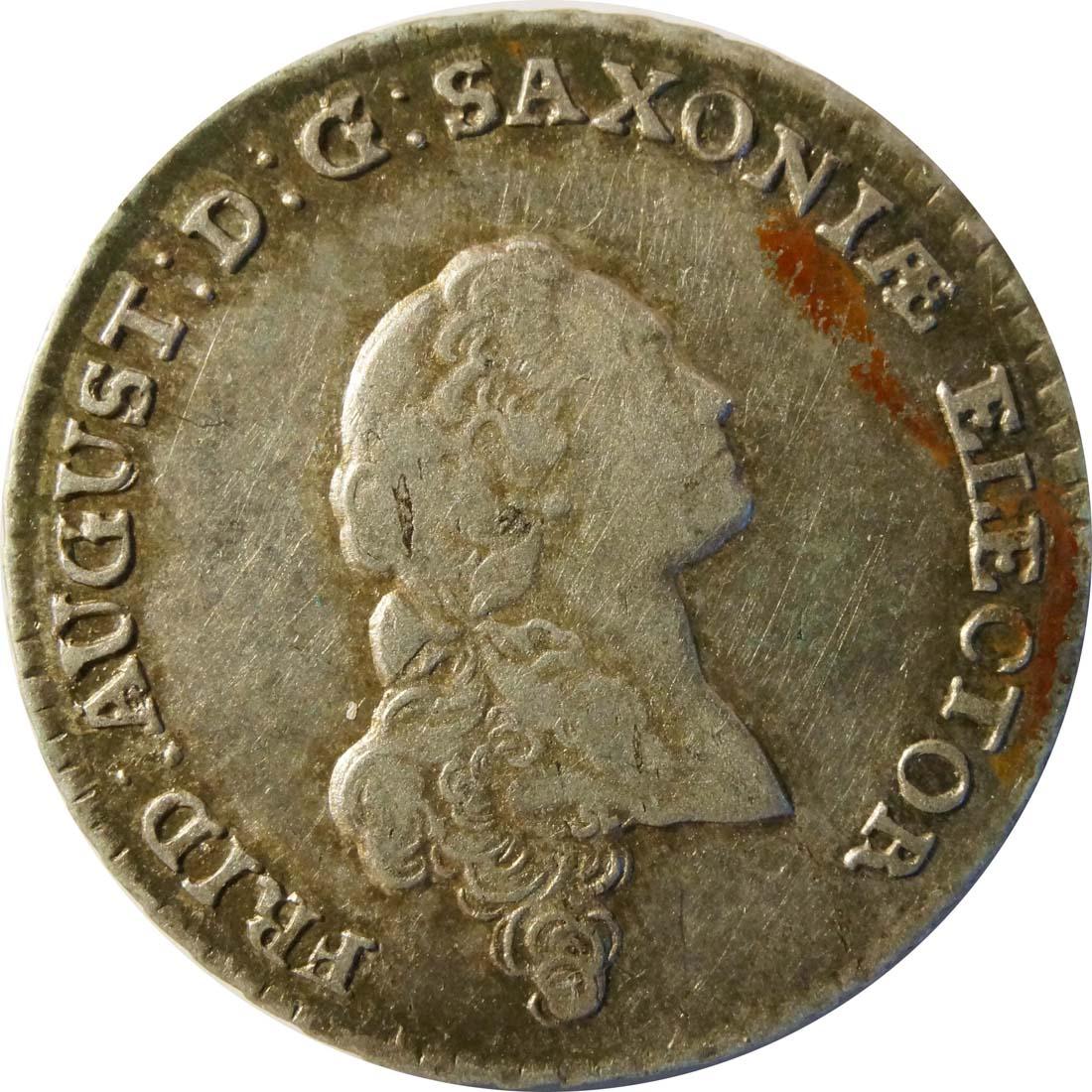 Vorderseite:Deutschland : 1/6 Taler  patina 1764 vz.