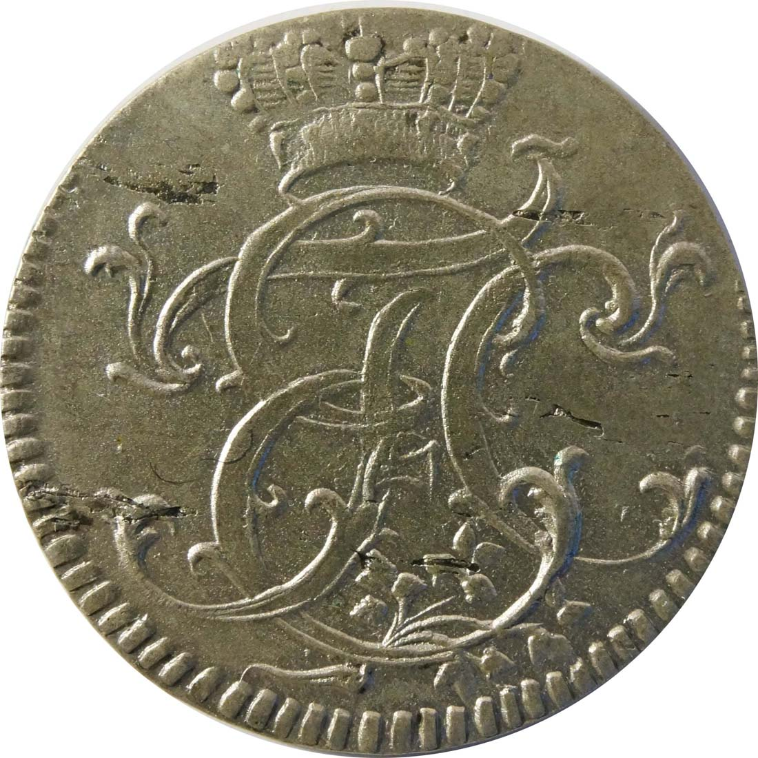 Rückseite:Deutschland : 1/24 Taler  -selten- 1759 vz.