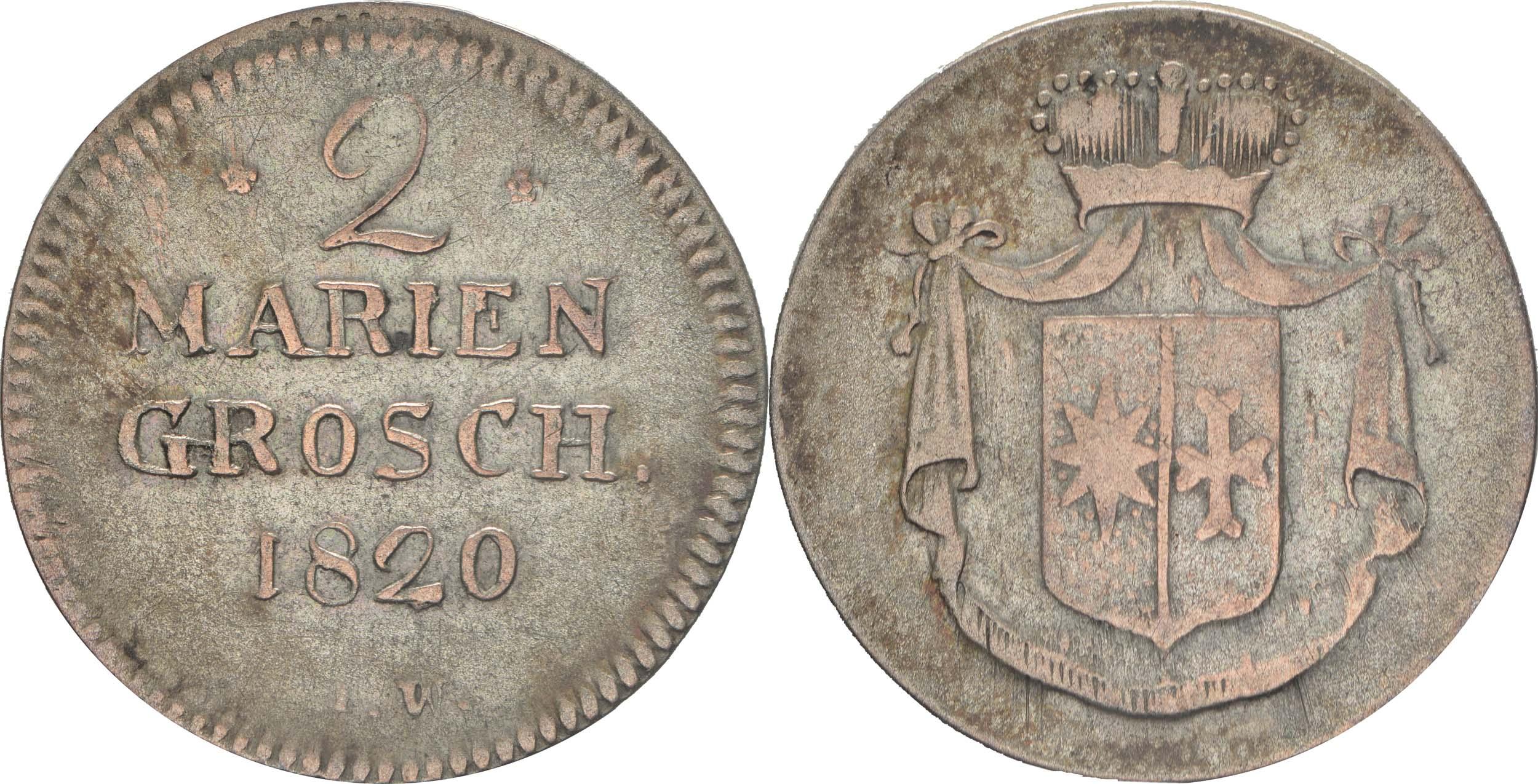 Lieferumfang:Deutschland : 2 Mariengroschen   1820 ss.