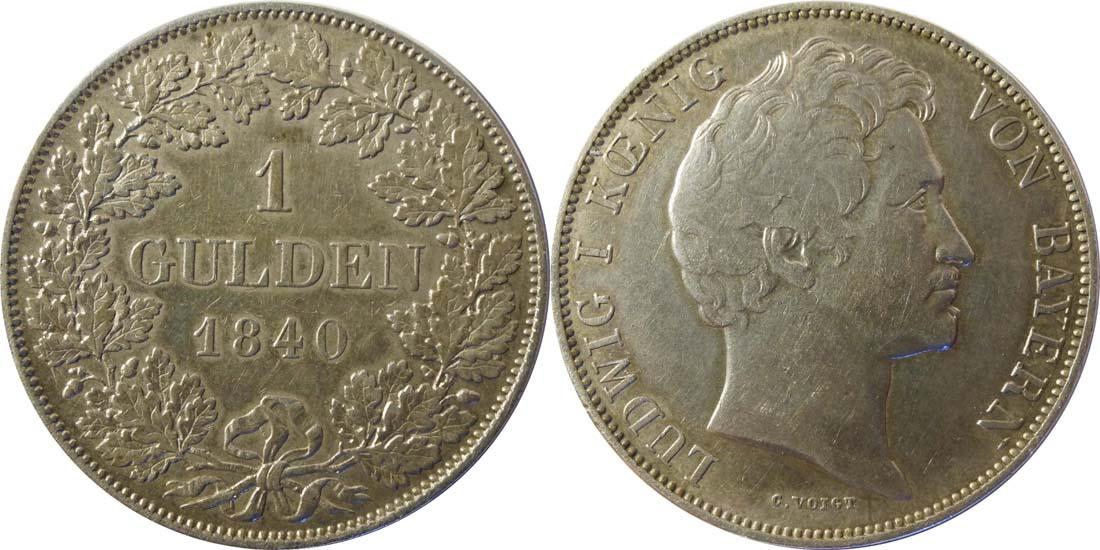 Deutschland : 1 Gulden   1840 ss/vz.