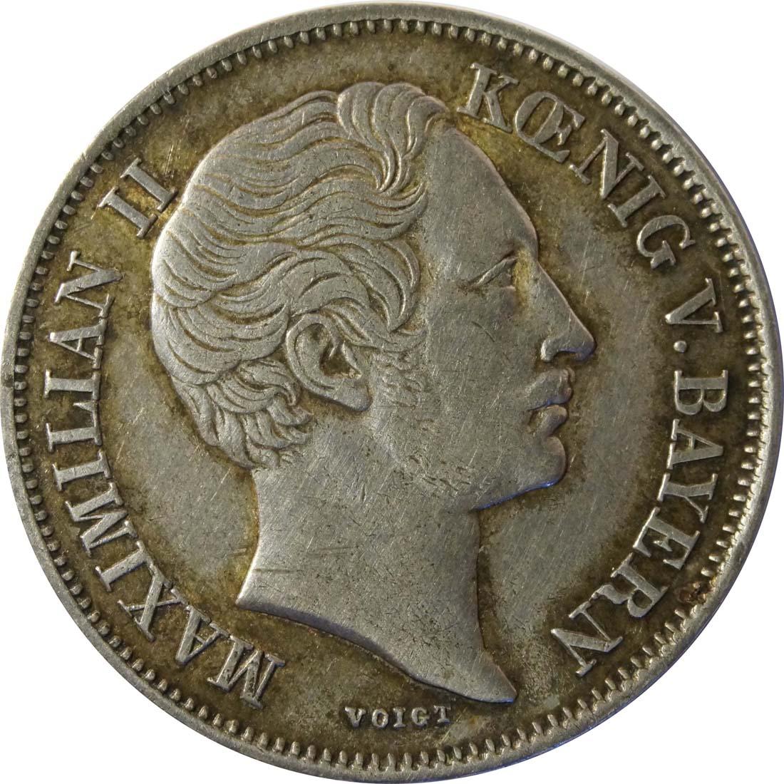 Rückseite :Deutschland : 1/2 Gulden  patina 1859 vz.