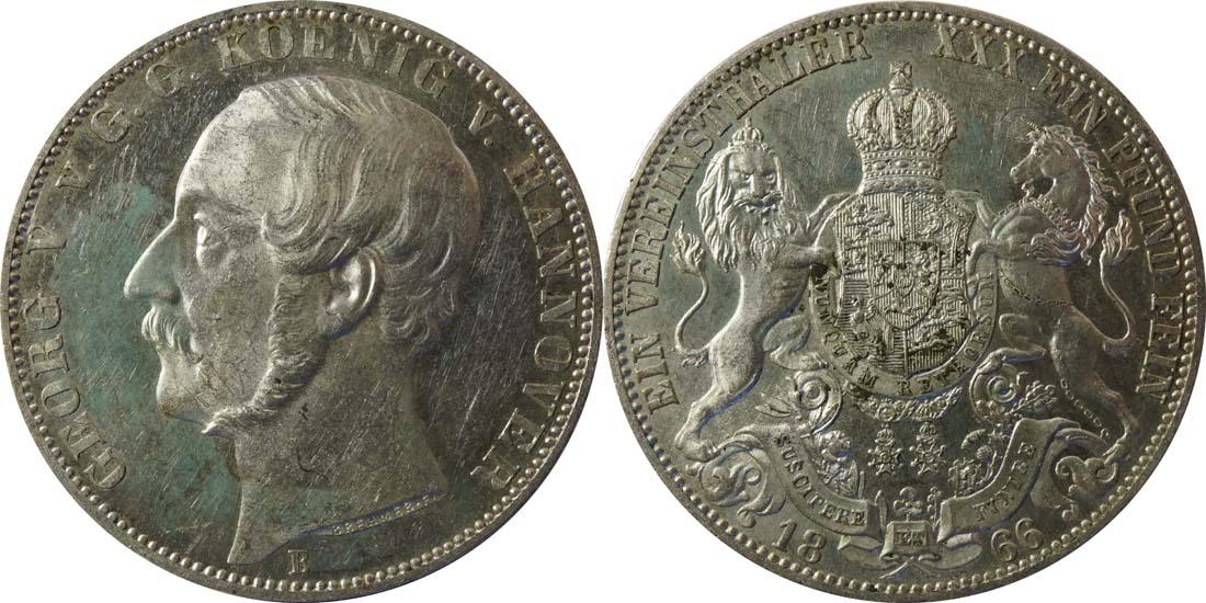 Lieferumfang:Deutschland : 1 Vereinstaler  patina 1866 vz.