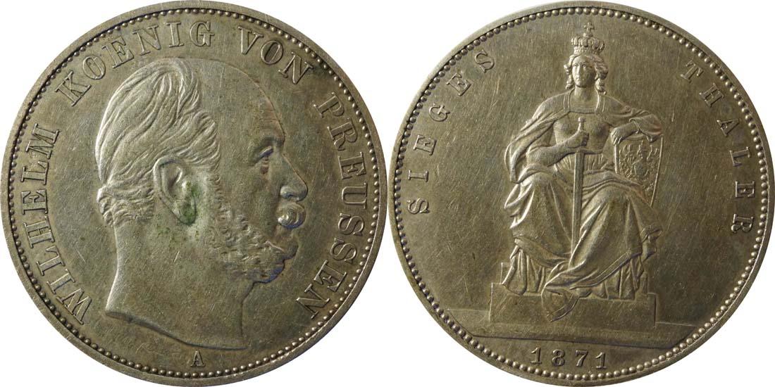 Deutschland : 1 Siegestaler   1871 ss.
