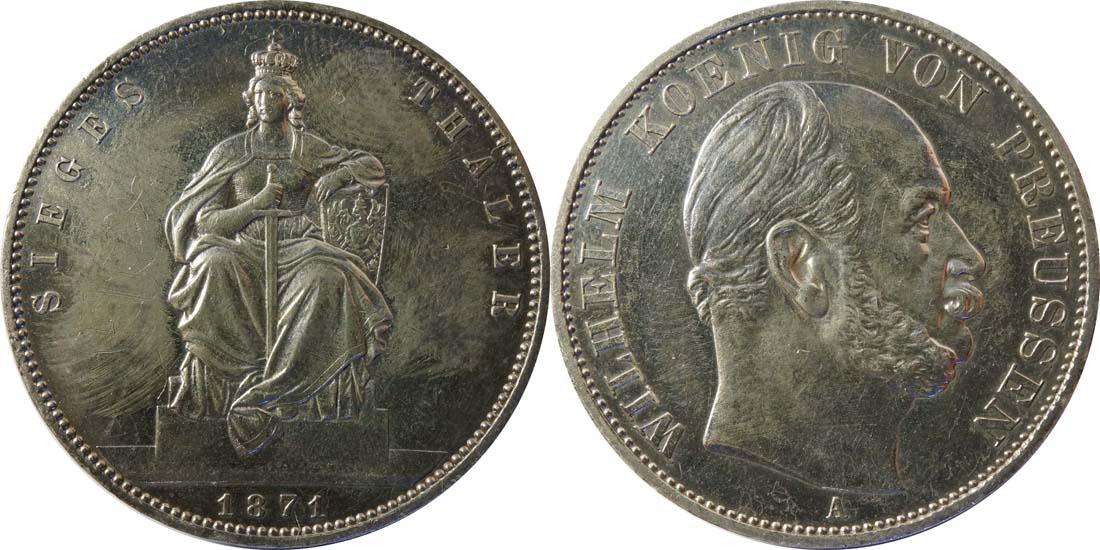 Übersicht:Deutschland : 1 Siegestaler   1871 ss.