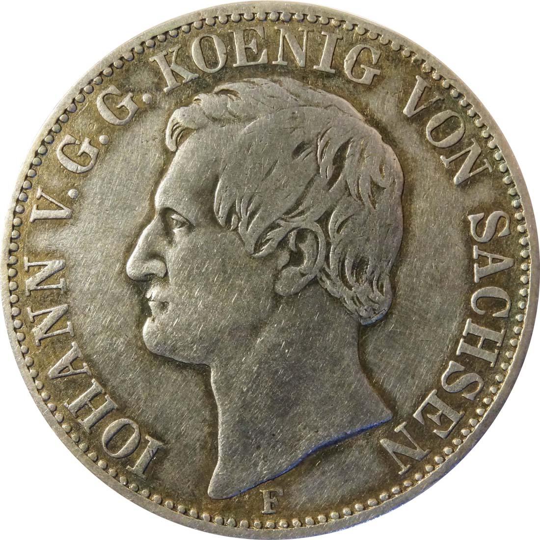 Rückseite:Deutschland : 1 Ausbeutevereinstaler  patina 1858 ss.