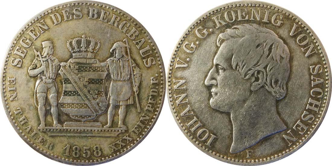 Deutschland : 1 Ausbeutevereinstaler  patina 1858 ss.