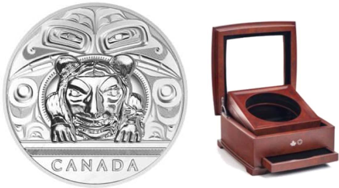 Lieferumfang:Kanada : 500 Dollar Charles Edenshaw - Künstler - Argillite Chest  2016 PP