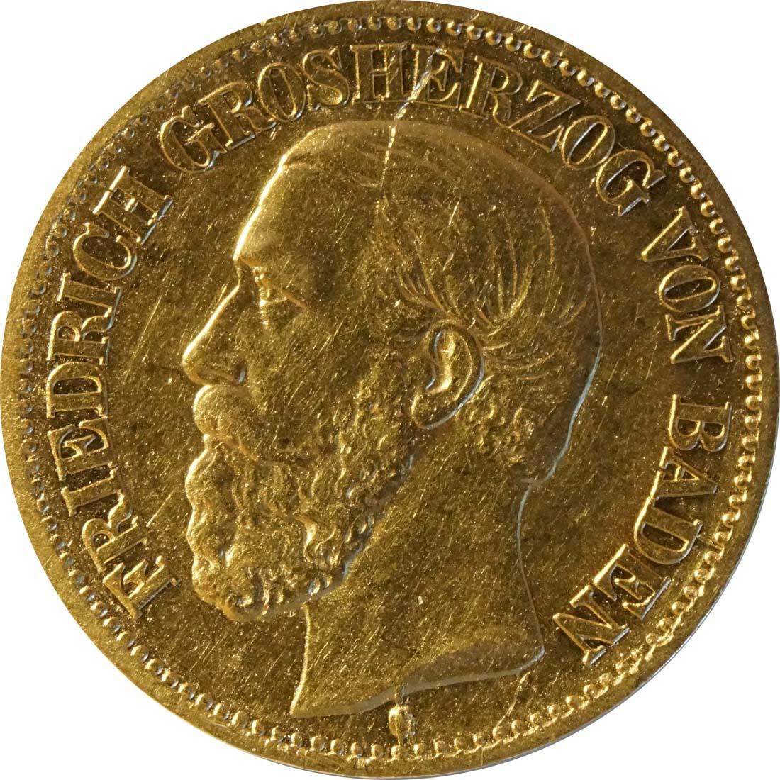 Vorderseite:Deutschland : 10 Mark   1872 ss.