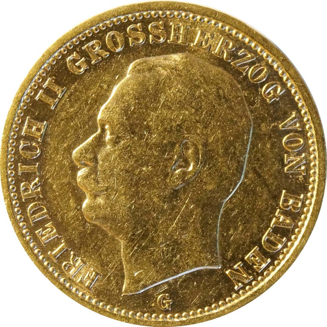 Vorderseite :Deutschland : 20 Mark  winz. Rs. 1911 ss/vz.