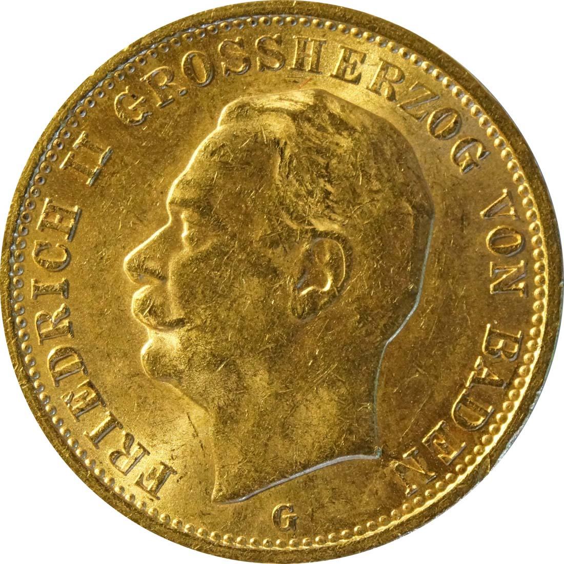 Vorderseite:Deutschland : 20 Mark   1912 vz/Stgl.