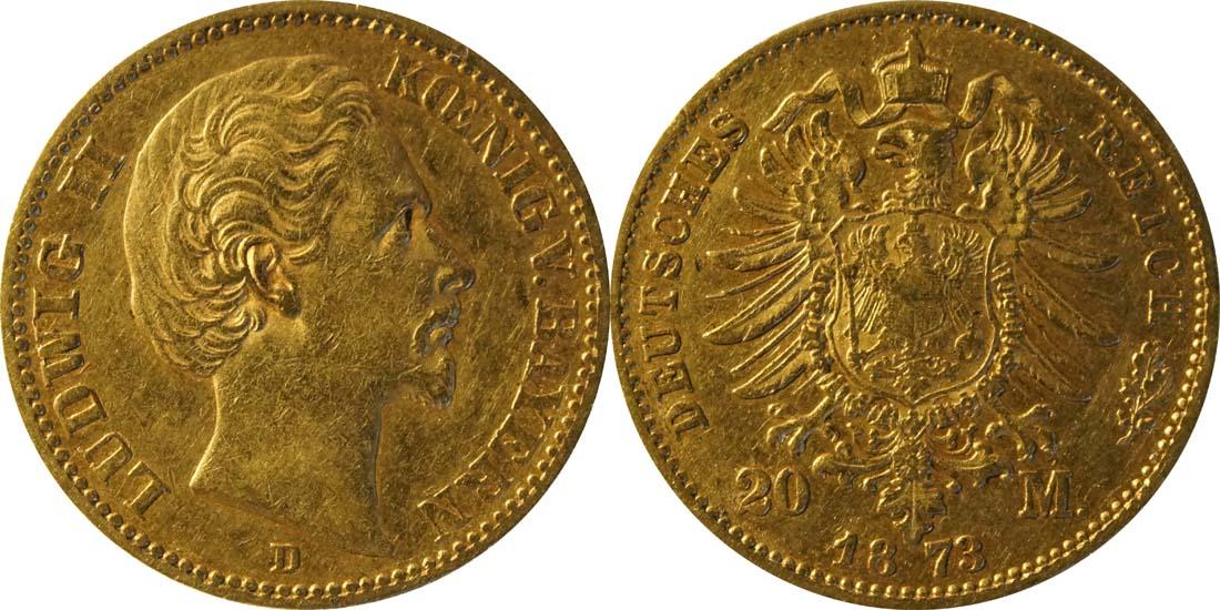 Übersicht:Deutschland : 20 Mark   1873 f.ss