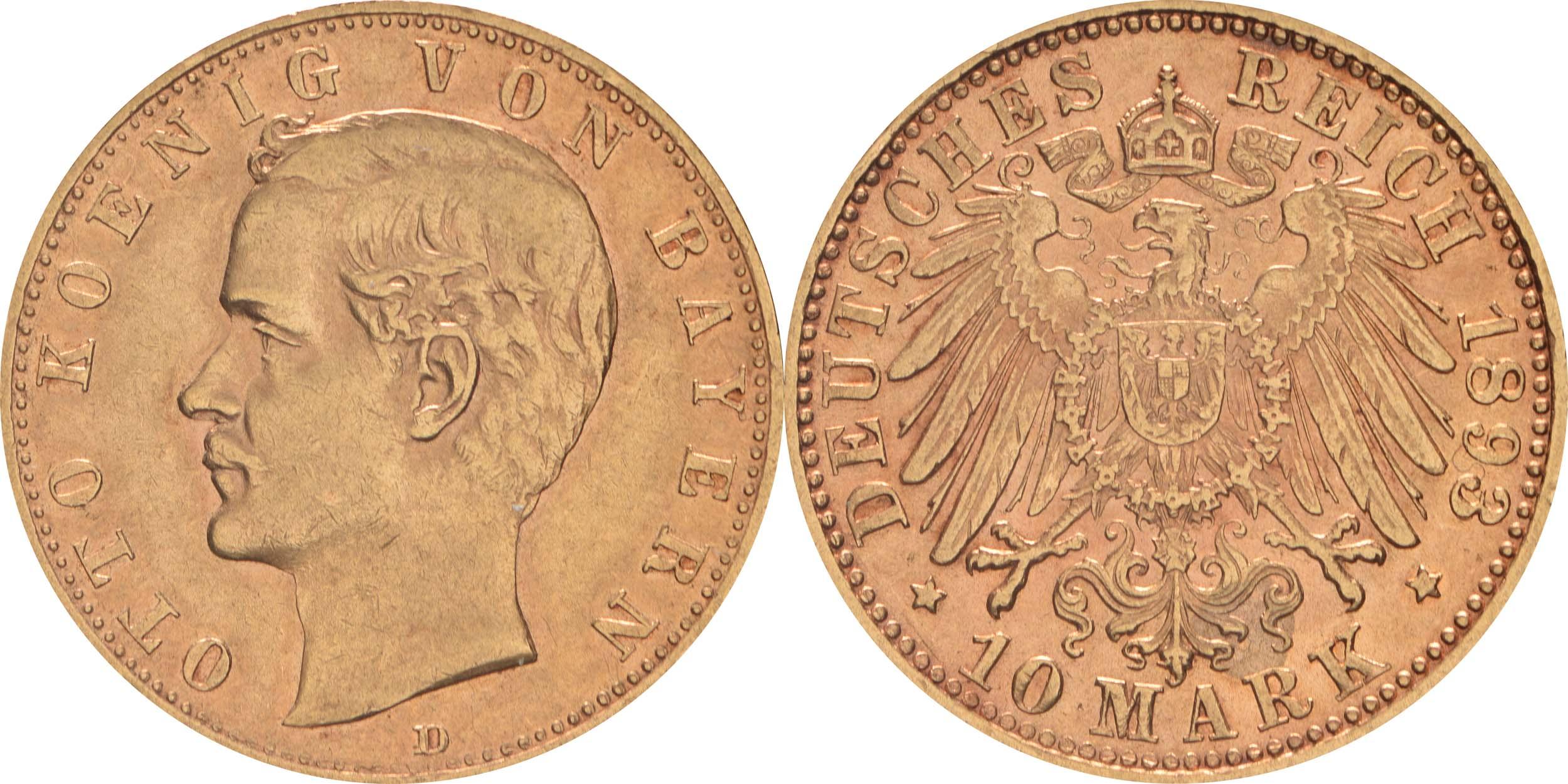 Deutschland : 10 Mark   1893 ss/vz.
