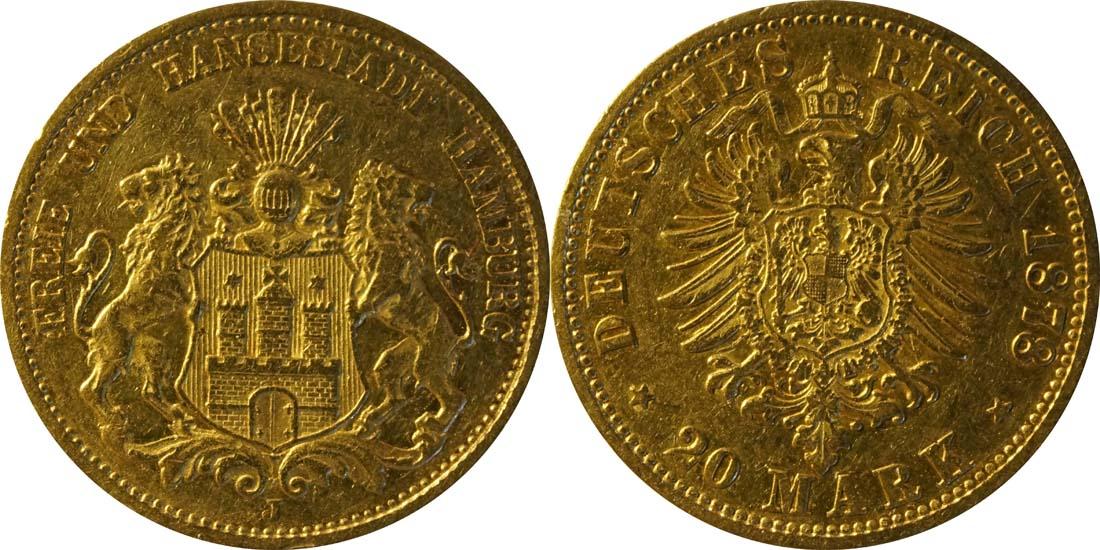 Deutschland : 20 Mark   1878 f.ss