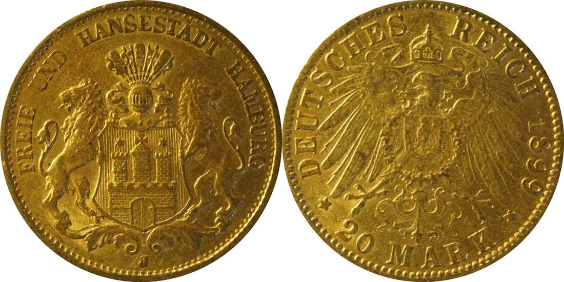 Übersicht:Deutschland : 20 Mark   1899 ss.