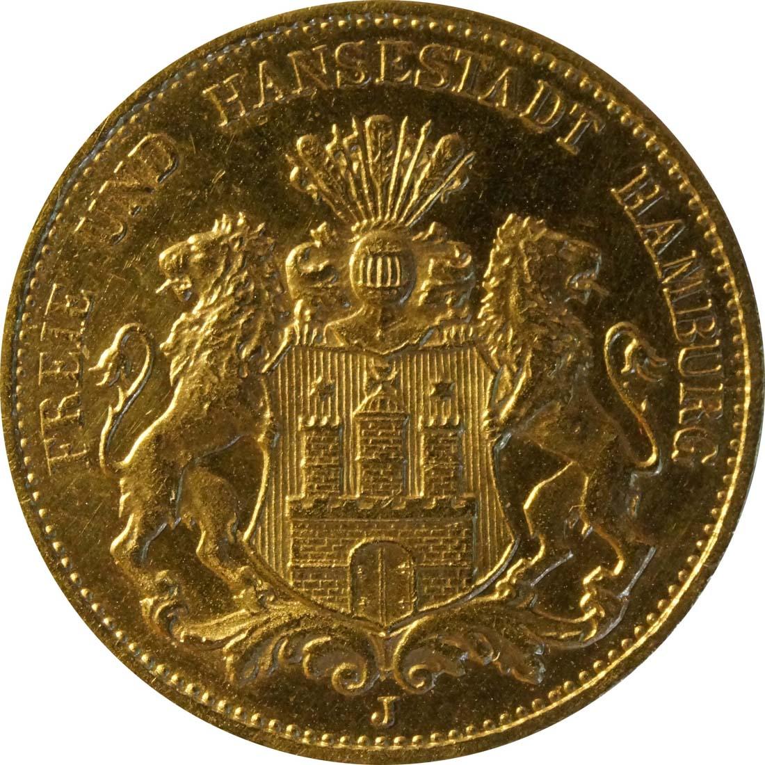 Vorderseite:Deutschland : 20 MArk   1913 ss/vz.