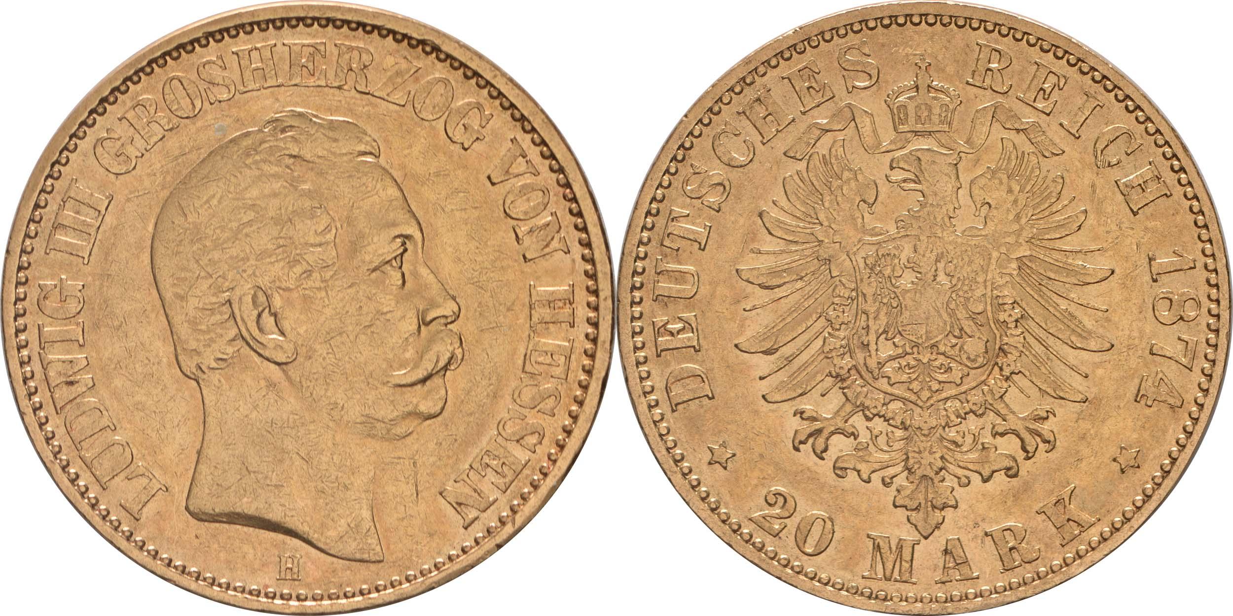 Deutschland : 20 Mark   1874 ss.