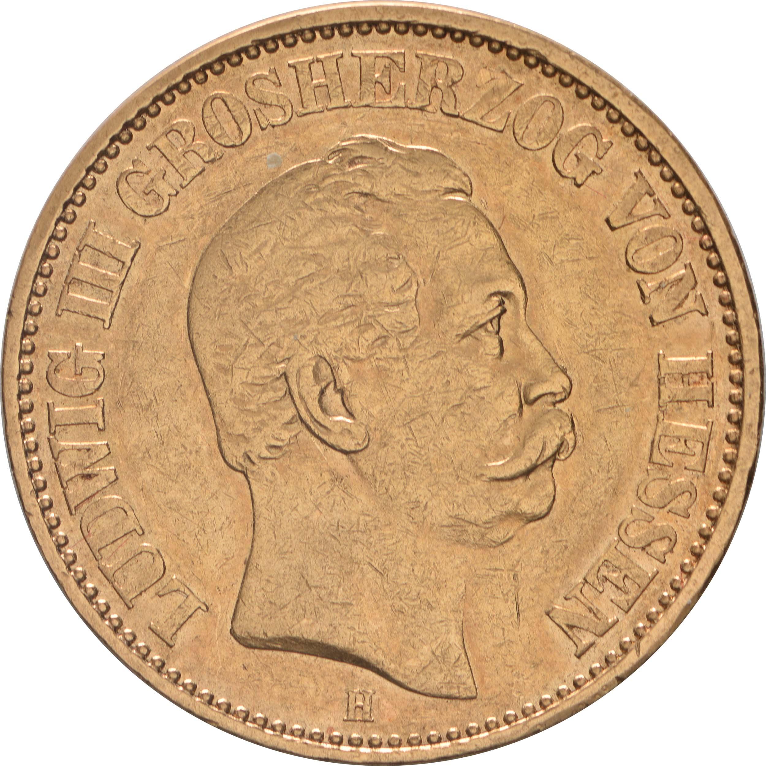 Vorderseite :Deutschland : 20 Mark   1874 ss.