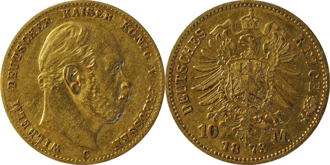 Deutschland : 10 Mark   1873 f.ss