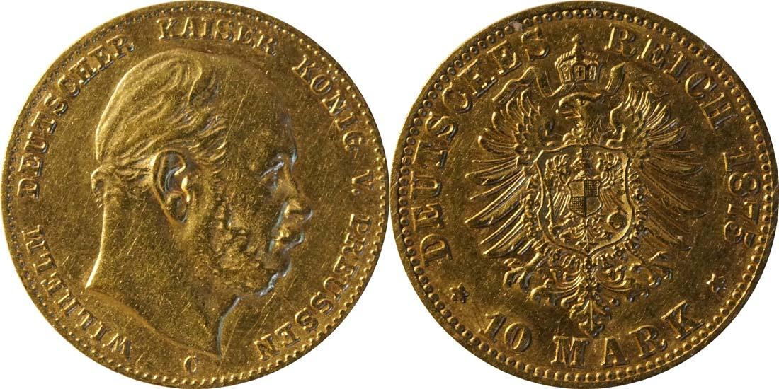 Deutschland : 10 Mark   1875 ss.