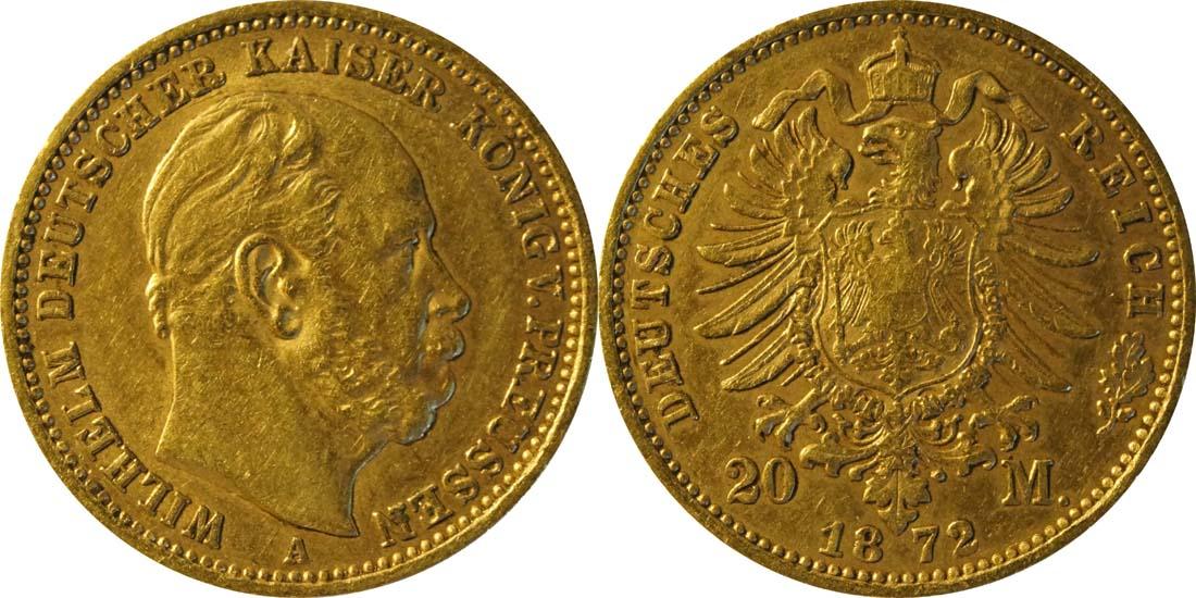 Deutschland : 20 Mark   1872 ss/vz.