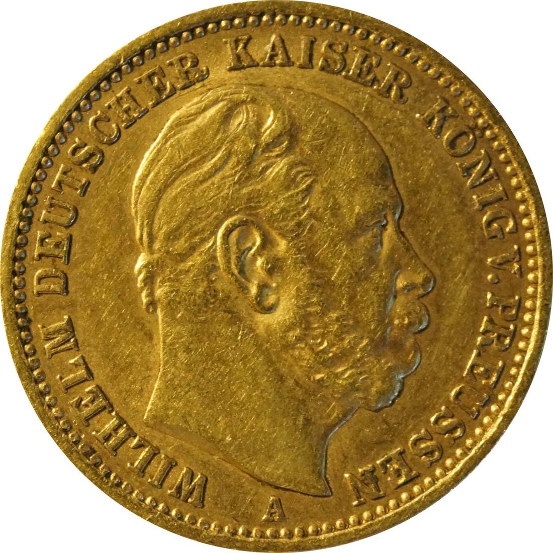 Vorderseite :Deutschland : 20 Mark   1872 ss/vz.
