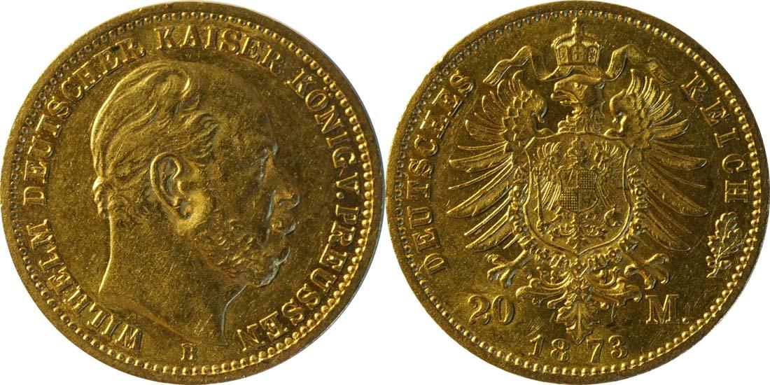 Übersicht:Deutschland : 20 Mark   1873 ss/vz.