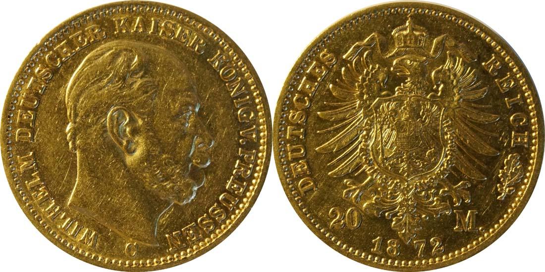 Übersicht:Deutschland : 20 Mark   1872 ss.