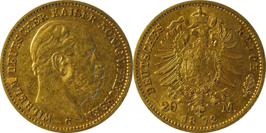 Lieferumfang:Deutschland : 20 Mark   1872 ss.
