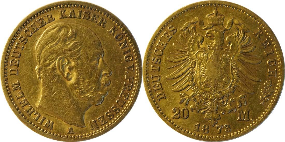 Lieferumfang:Deutschland : 20 Mark   1873 ss.