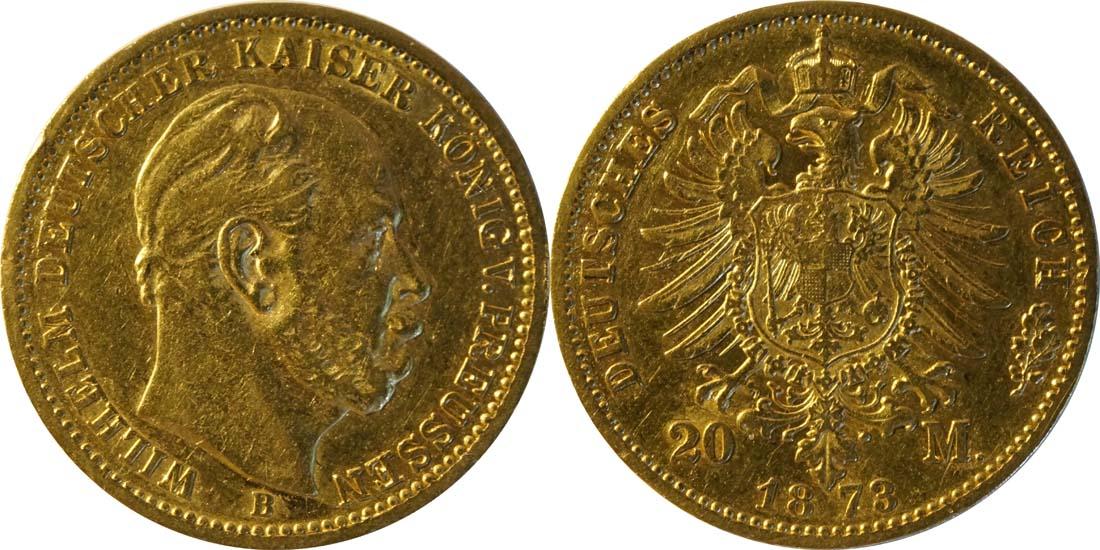 Übersicht:Deutschland : 20 Mark  Rs. 1873 ss.