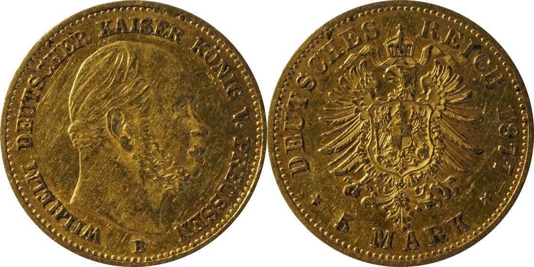 Übersicht:Deutschland : 5 Mark   1877 ss.