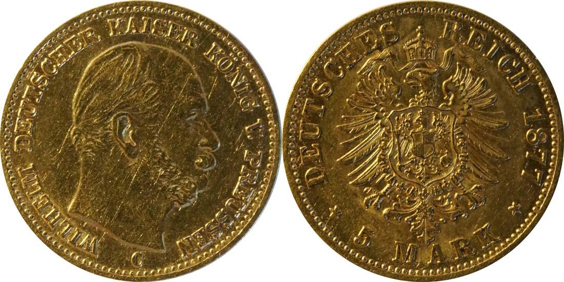 Lieferumfang:Deutschland : 5 Mark   1877 ss.