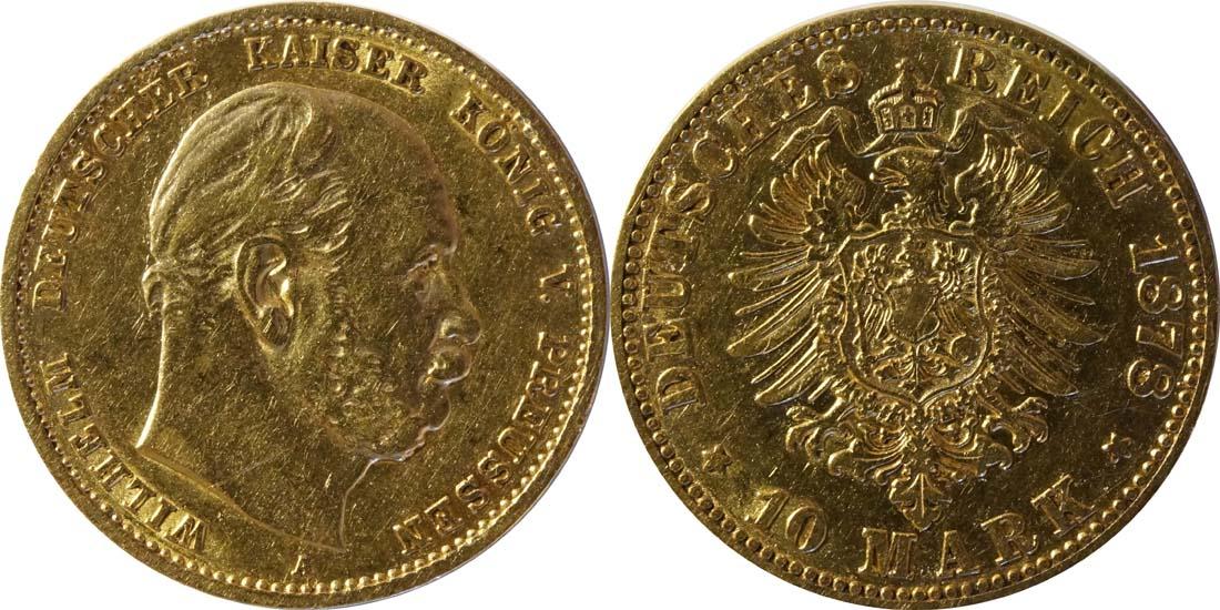 Lieferumfang:Deutschland : 10 Mark   1878 ss.