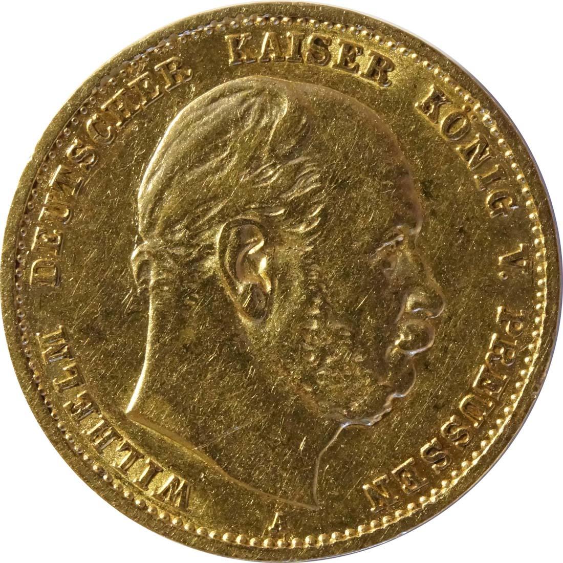 Vorderseite:Deutschland : 10 Mark   1878 ss.