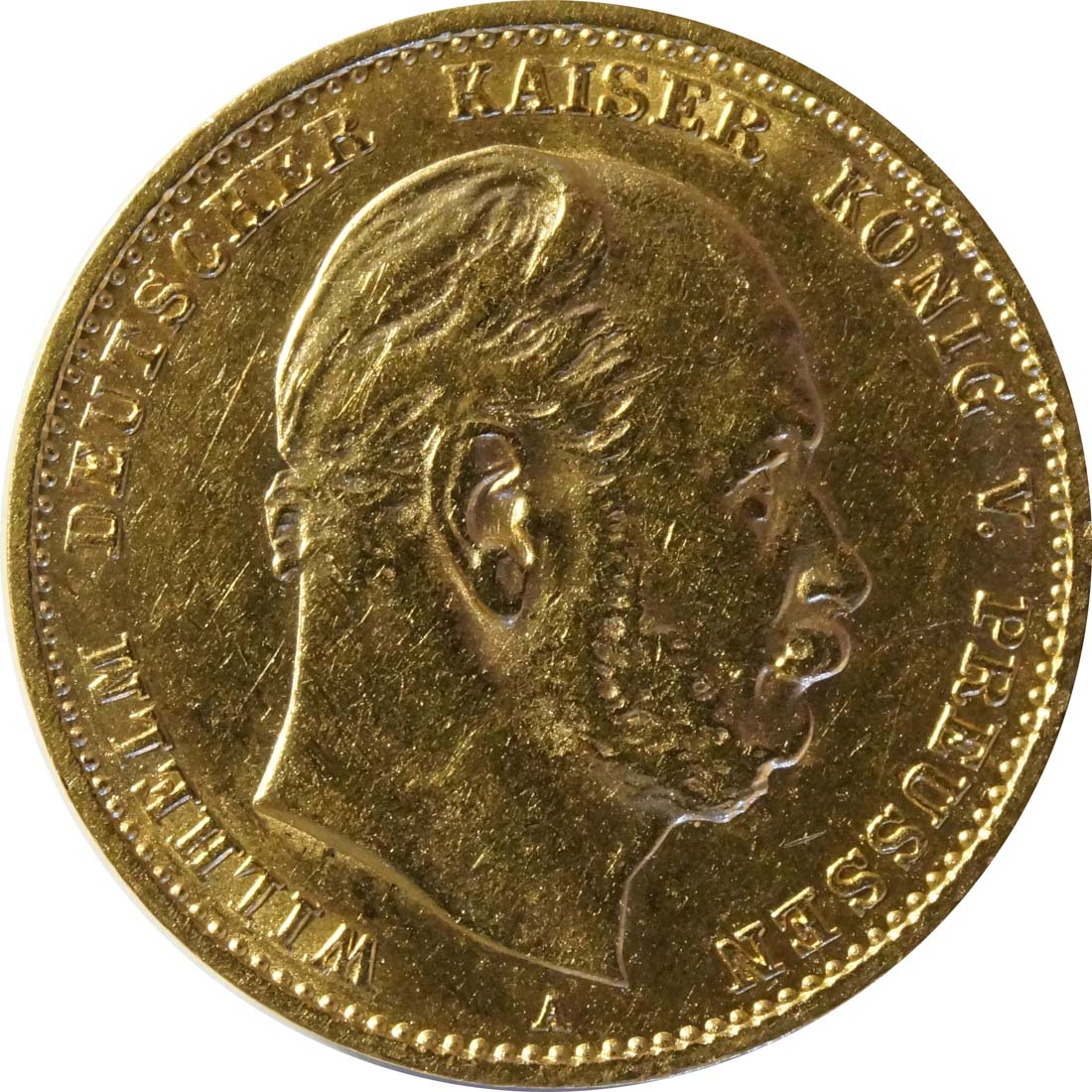 Vorderseite:Deutschland : 10 Mark   1880 ss/vz.