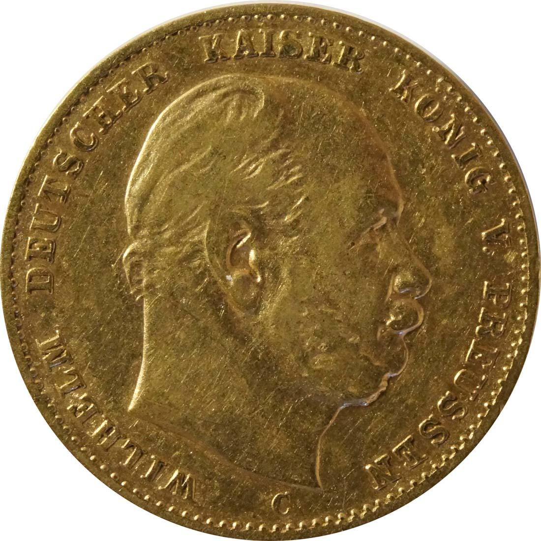 Vorderseite:Deutschland : 10 Mark   1879 ss.