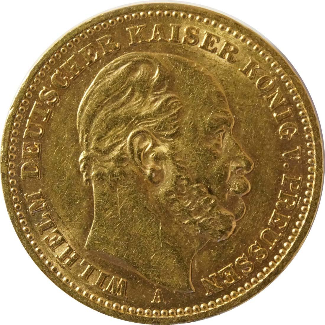 Vorderseite:Deutschland : 20 Mark   1887 vz.