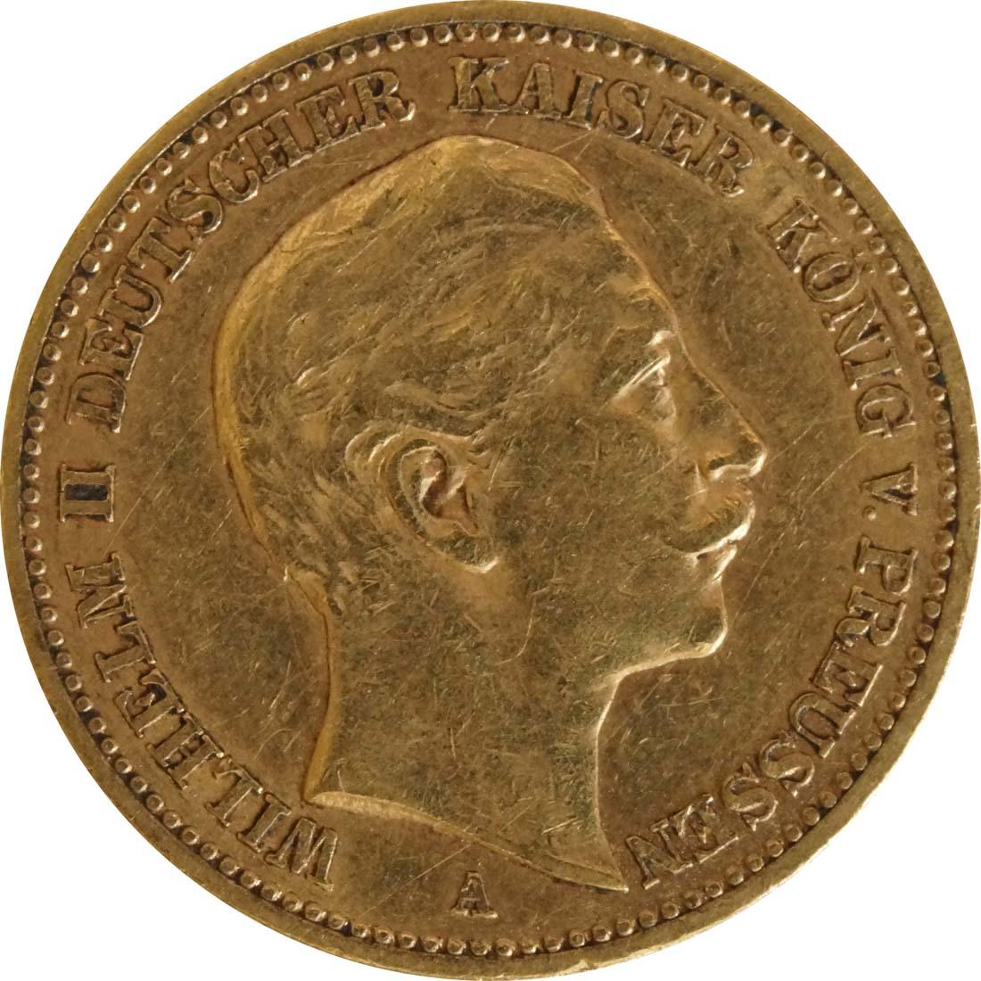 Vorderseite:Deutschland : 20 Mark  winz. Kratzer 1889 ss.