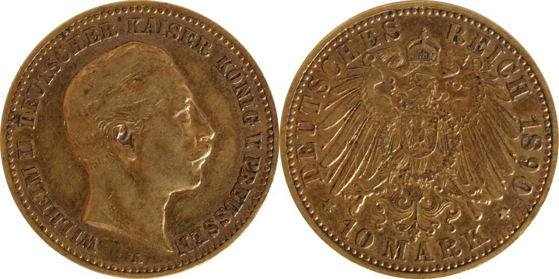 Deutschland : 10 Mark   1890 ss.