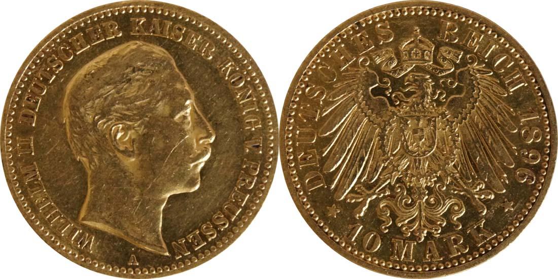 Deutschland : 10 Mark   1896 ss/vz.
