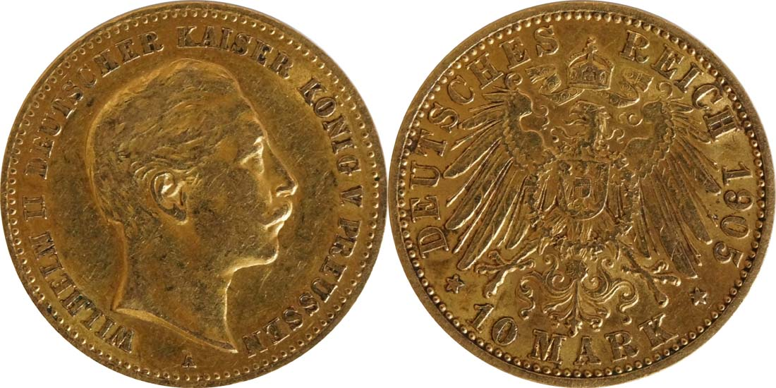 Deutschland : 10 Mark   1905 ss/vz.