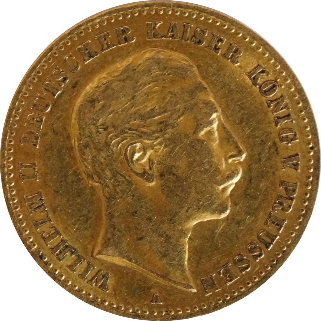 Vorderseite :Deutschland : 10 Mark   1905 ss/vz.