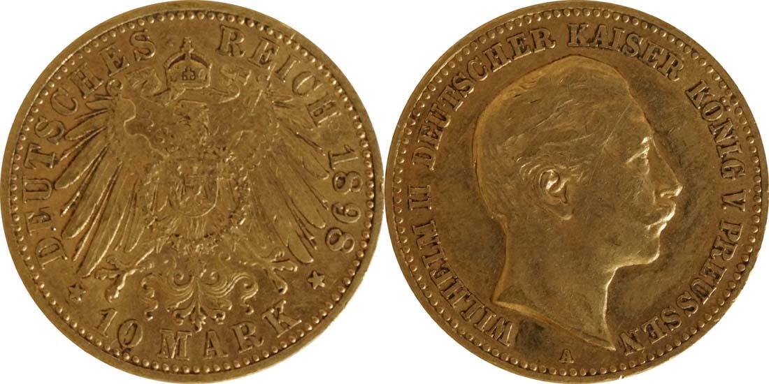 Bild des Lieferumfangs :Deutschland - 10 Mark   1898 ss.