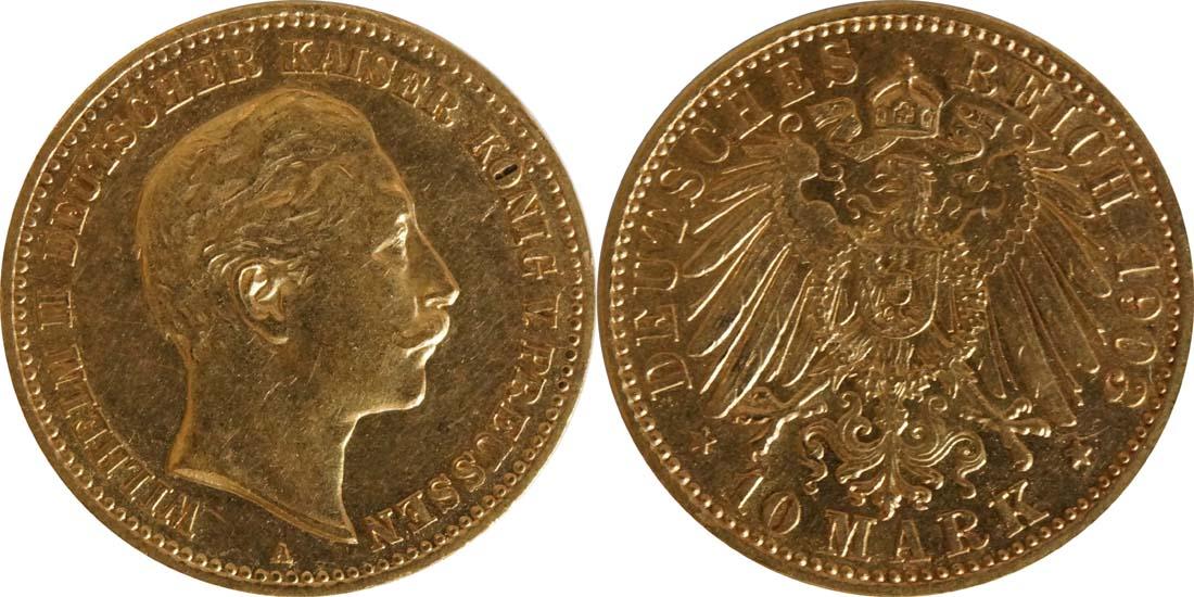 Lieferumfang:Deutschland : 10 Mark  winz. Rs. 1903 ss/vz.