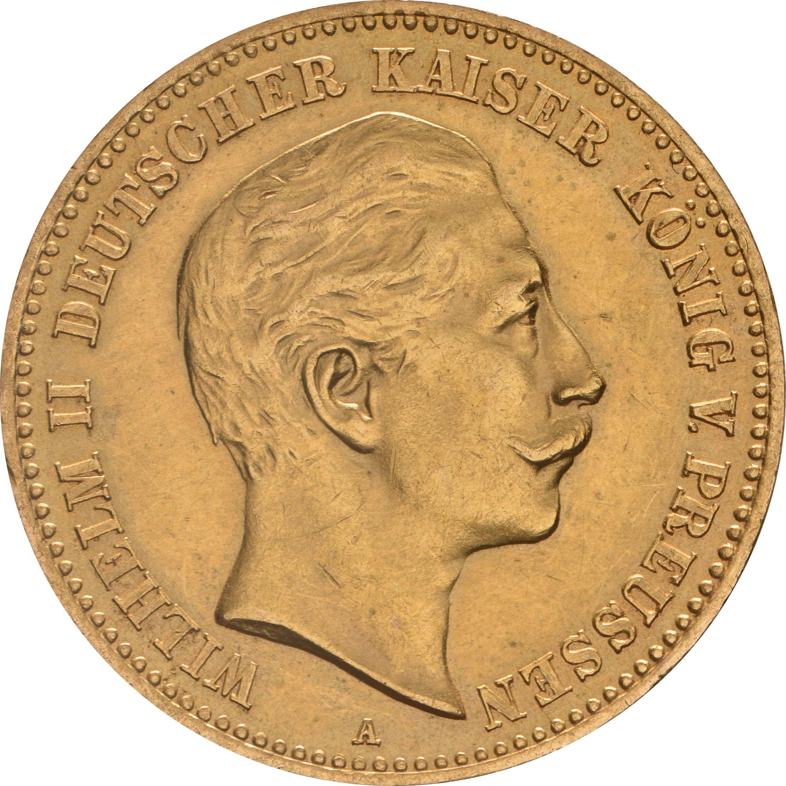 Vorderseite:Deutschland : 10 Mark   1904 vz/Stgl.