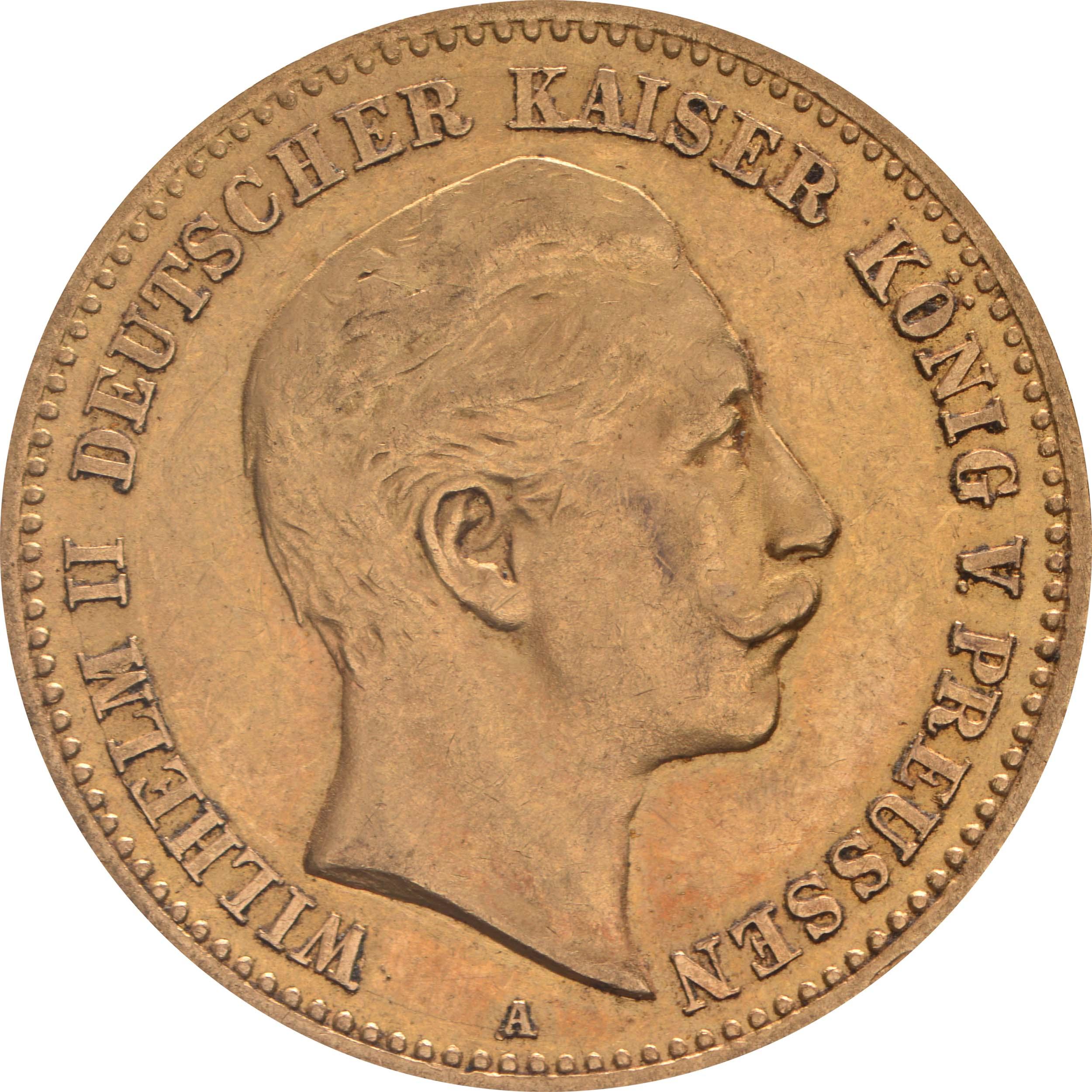 Vorderseite:Deutschland : 10 Mark   1905 vz.
